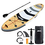 UBOWAY Two Layer Inflatable Stand Up Paddle Board 11' Long 32'' Wide 6''