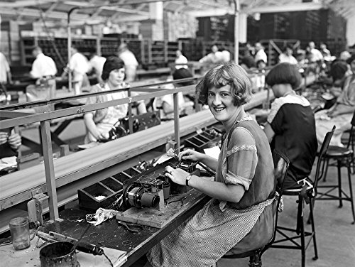 Radio Factory C1925 Nworker Mary Ramsey Beginning The Assembly Of A Radio Set At The Atwater Kent Factory In Philadelphia Pennsylvania Photographed C1925 Poster Print by (18 x 24) (Atwater Kent Radio)