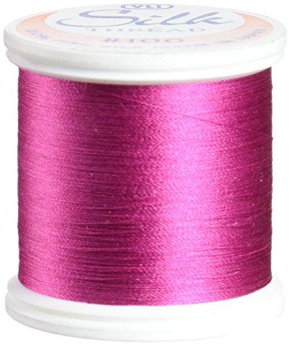 (YLI 20210-266 100wt T-12 Silk Thread, 200m, Deep Pink)