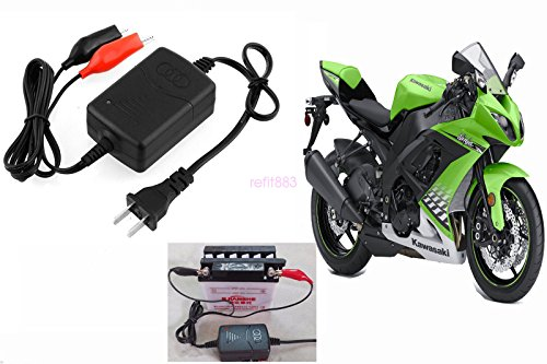scooter Battery Charger Yamaha Motorcycle ATV 12V Battery Maintainer Tender Float ()