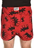 Lazy One Unisex Classic Red Moose Comical PJ Boxers - Size Medium - Funny Phrases and Patterns