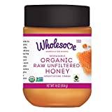 Wholesome Organic Raw Unfiltered Honey, Spreadable, Pesticide Free, Non GMO, 16 oz (Pack of 3 jars)