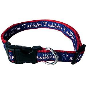Pets First MLB TEXAS RANGERS Dog Collar, Small