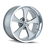 Ridler Style 645 Grey Wheel with Machined Face/Polished Lip (17x8''/5x120.65mm)