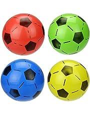 Mini Soccer Inflatable Football Sports Play Balls Toy,6pcs(Random Colour)