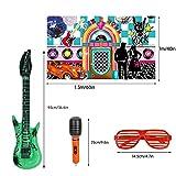 25pcs 50s Rock Party Decorations Supplies Rock