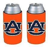 NCAA 2013 College Ultra Slim Beer Can Holder Koozie 2-Pack (Auburn Tigers)