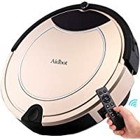 Aidbot Smart Robotic Vacuum Cleaner Strong Suction Pet Hair Low-pile Carpet Floor Cleaning Vacuum Robot Self-Charging with Virtual Blocker Low Noise Dual Central Sweeper Mop Robot