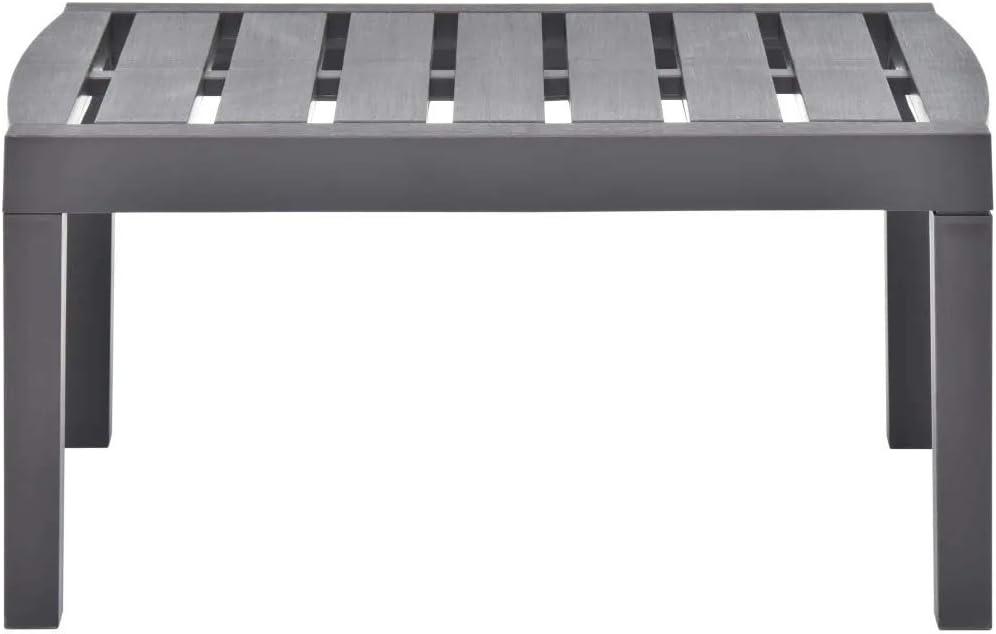 Plastic Outdoor Coffee Table Garden Patio Balcony Mocha Lounge Low Side Table Waterproof