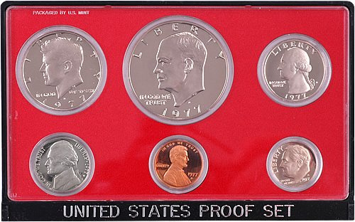 1977 S 6 piece set proof in original packaging from US mint Proof