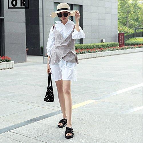 Mode Sandales Black Sport de Chaussures d'été 6 Pantoufles de 0 des Chaussons Porter Femme Couleur Taille Black qwzvnxHa