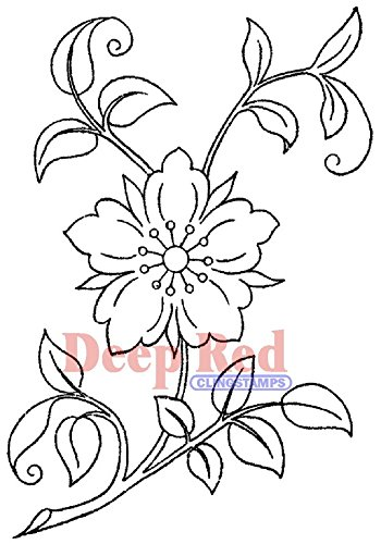 Deep Red Cling Stamp-Flower Blossom - Foam Stamps Flowers