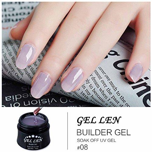 Gel Nail Polish Qatar: Gellen New Soak Off UV Builder Gel Set, (15ml, 4 Colors