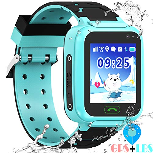 Kids Waterproof GPS Smartwatches Phone - WiFi GPS LBS Tracker Locator 1.4