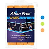Alien Pros Tennis Grip Tape for Rackets – (12 Grips) Precut and Dry Feel