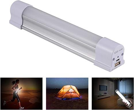 Homvik Linterna LED Camping 5200mAH 4W Iluminación Tubo Recargable ...