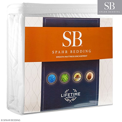 Spahr Bedding Bed Bug Mattress Cover - Zippered Encasement Mattress Protector- 100% Waterproof, Hypoallergenic, Breathable Protection - Twin XL Size