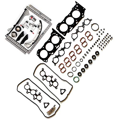 TUPARTS Timing Part Timing Chain kit Head Gasket Set fits for 2007 2008 2009 2010 2011 Lexus RX350 3.5L 3456CC V6 Gas DOHC Naturally Aspirated