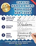 Cursive Handwriting Workbook for Teens: Learning