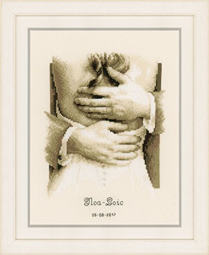 "Vervaco Newlyweds on Aida  Cross Stitch Kit 8.5""X11.25"""