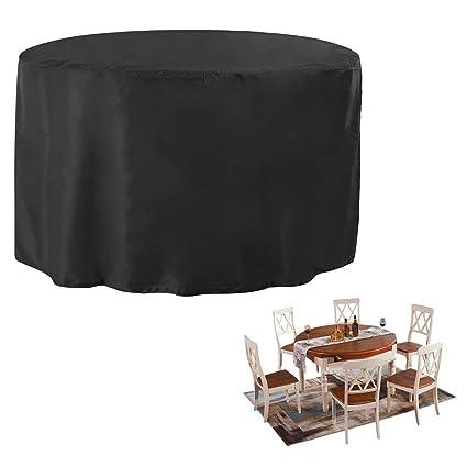 JTDEAL Housse de Jardin Table Ronde, Couverture pour Meuble de ...
