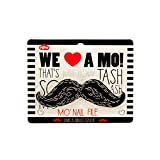 JT Cosmetics Black Mustache Nail File - 24 Pack