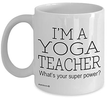 Amazon.com: shaniztoons Yoga Teacher Funny Gift Mug: Home ...