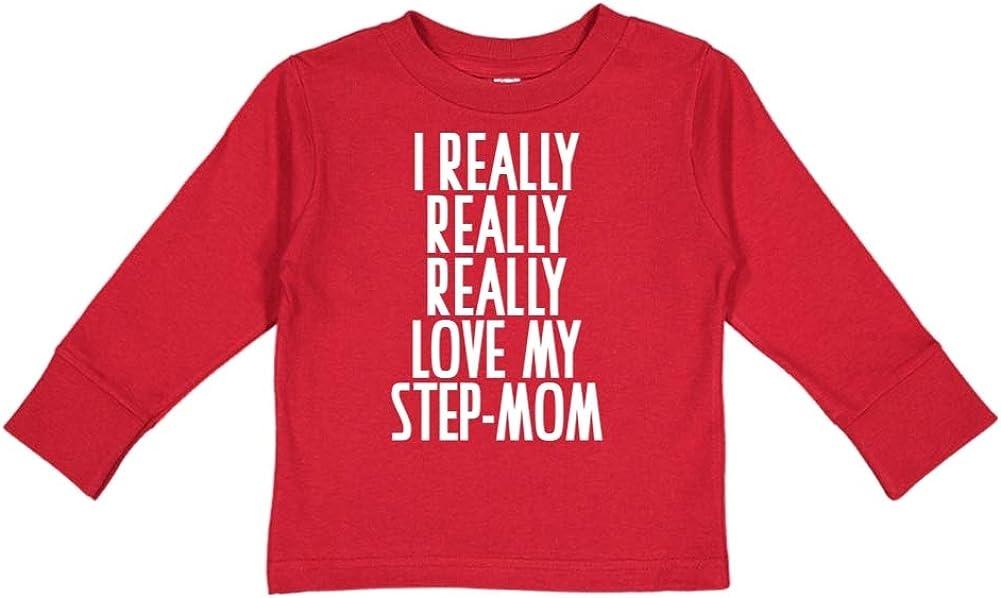 Toddler//Kids Long Sleeve T-Shirt I Really Really Really Love My Step-Mom