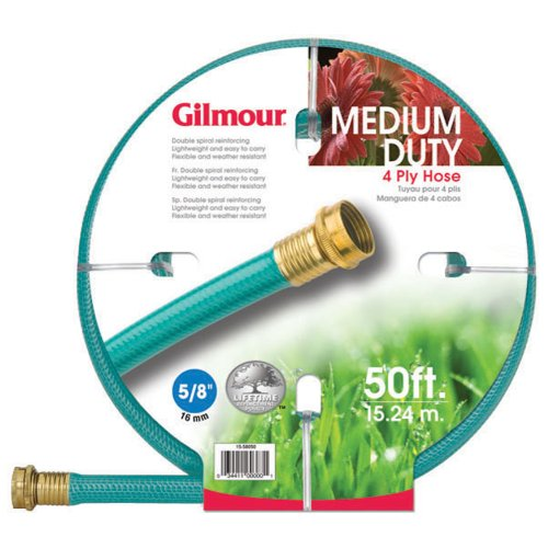 Gilmour 15-58050 15 Series 4-Ply 5/8-Inch-by-50-Foot Reinforced Vinyl Hose, Green ()