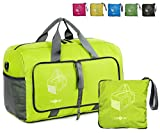 Raqpak Travel Duffel Bag Foldable for Gym or Luggage, Multiple Colors (L - 18.5, Neon Green)