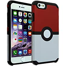iPhone SE Case, DURARMOR® iPhone SE 5S 5 [Lifetime Warranty] Poke Ball Style Pokemon Go Dual Layer Hybrid ShockProof Ultra Slim Fit Armor Air Cushion Bumper Drop Protection Case Cover for iPhone SE 5S