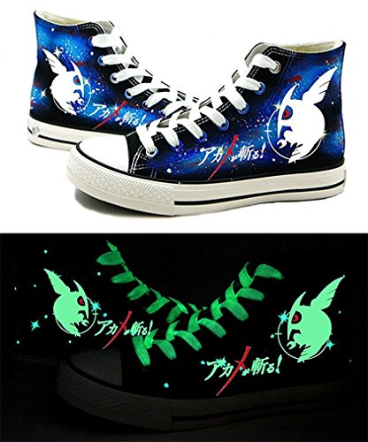 Bromeo Akame ga KILL Unisexe Toile Salut-Top Sneaker Baskets Mode Chaussures Lumineux