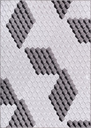 Amazoncom Black And White Grey Digital Cubes 3d Area Rug 2 X 73