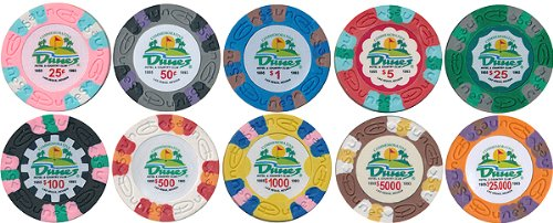 Poker Set Commemorative (Poker Chips 500 Dunes Commemorative 10g Casino Style Chips Custom Set)