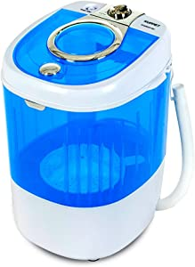 KUPPET Mini Portable Washing Machine for Compact Laundry, 7.7lbs Capacity, Small Semi-Automatic Compact Washer with Timer Control Single Translucent Tub