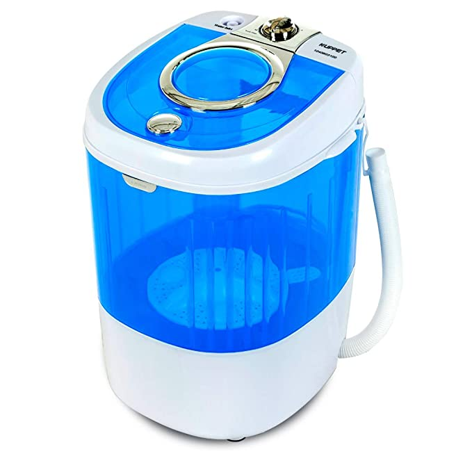 KUPPET Mini Portable Washing Machine for Compact Laundry, 7.7lbs Capacity, Small Semi-Automatic Compact Washer with Timer Control Single Translucent Tub best portable washer