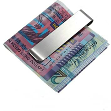 Amazon.com : Unisex Stainless Steel Money Clip Credit Card ...