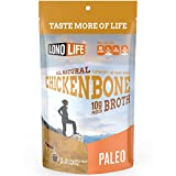 LonoLife Chicken Bone Broth, 10g Protein, Stick Packs, 10 Count