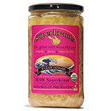 Wasabi Ginger GOURMET SAUERKRAUT - Organic & Kosher, 24 fl. oz., Raw Fermented, Unpasteurized, Probiotic. Free Shipping w/Minimum. 15 Flavors available!