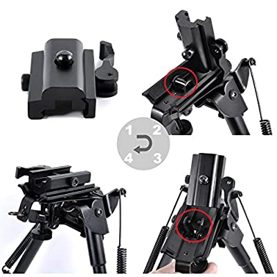 Calitte QD Quick Detach Cam Lock Bipod Adapter Mount for Picatinny Weaver Rail
