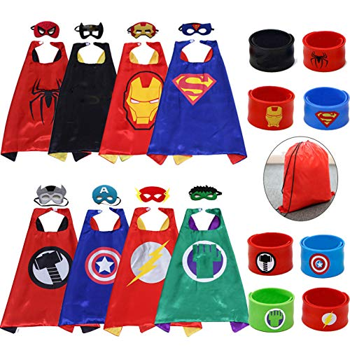 Kids Cartoon Dress Up Costumes Satin 8pcs Characters