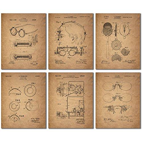 Optometrist Patent Wall Art Prints   Set Of Six Eye Doctor Vintage Photos
