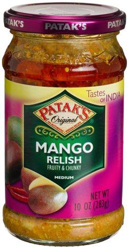 Patak Mango Relish - Patak's Mango Relish, Medium, 10-Ounce Glass Jars (Pack of 6)
