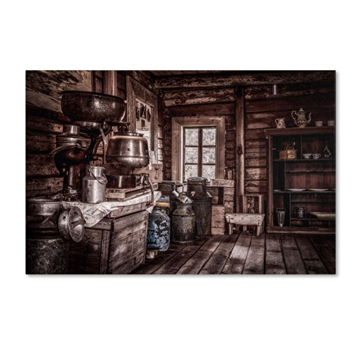 Old Farm House Artwork by Erik Brede, 12 by 19-Inch Canvas Wall (Rustic Houses Wall Art)