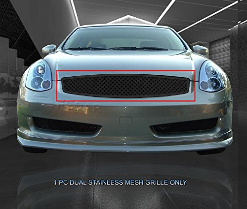 (Fedar Main Upper Dual Weave Mesh Grille for 2003-2007 Infiniti G35 Coupe)