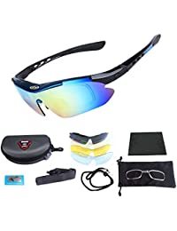 Polarized Sports Sunglasses, Cycling Glasses for Men and...