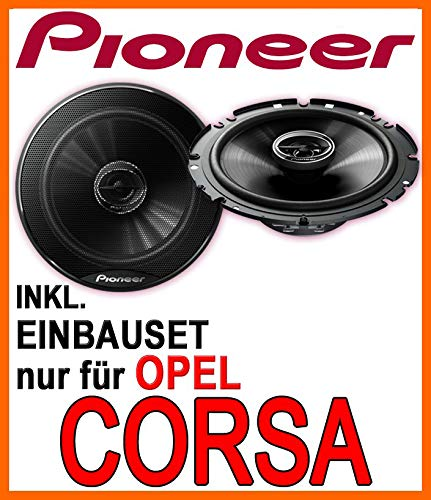 Opel Corsa B 16cm Einbauset D Lautsprecher -Pioneer TS-G1732i C