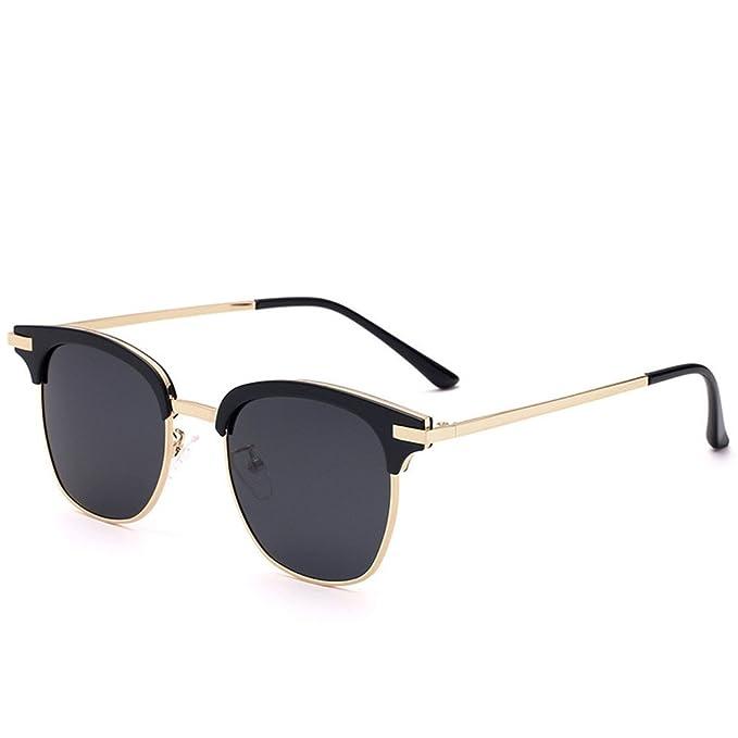 qbling technolog Metal Half-Rimmed gafas de sol 2018 gafas ...