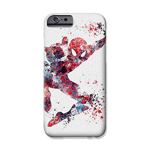 "iPhone 6 Plus/6s Plus (5.5"") Marvel Fan Art Silicone Phone Case/Gel Cover for Apple iPhone 6S Plus 6 Plus (5.5"")/Screen Protector & Cloth/iCHOOSE/Spiderman"