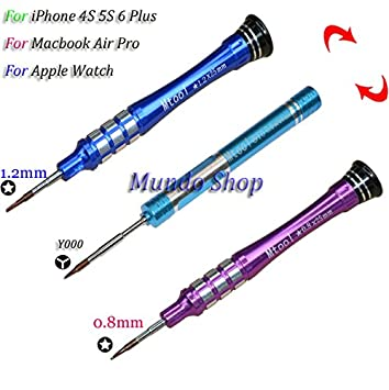 Uno Set 3 piezas P2 P5 Pentalobe destornillador para iPhone 4S 5S 6 ...
